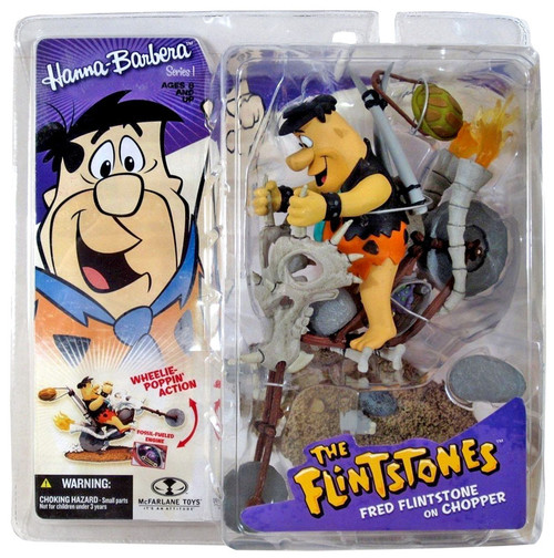 McFarlane Toys Hanna-Barbera The Flintstones Series 1 Fred Flintstone on Chopper Action Figure