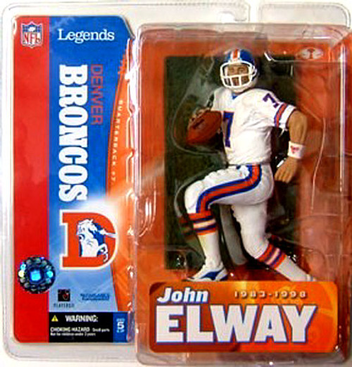 McFarlane Toys NFL Denver Broncos Sports Picks Legends Series 1 John Elway Action Figure [White Jersey Variant]