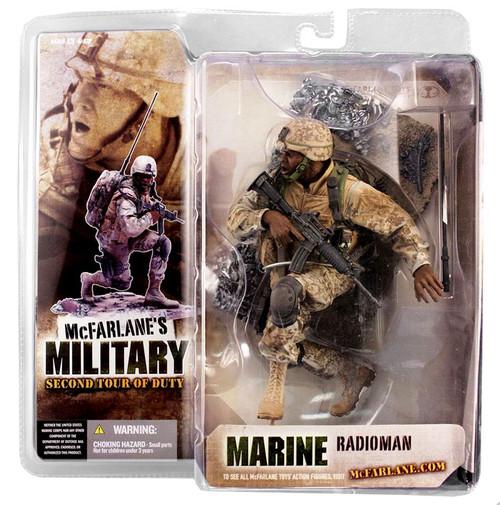 McFarlane Toys McFarlane's Military Series 2: 2nd Tour of Duty Marine Radioman Action Figure [African American]