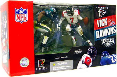 McFarlane Toys NFL Atlanta Falcons / Philadelphia Eagles Sports Picks 2-Packs Michael Vick & Brian Dawkins Action Figure 2-Pack