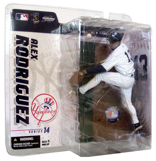 McFarlane Toys MLB New York Yankees Sports Picks Series 14 Exclusive Alex Rodriguez Exclusive Action Figure [White Jersey]