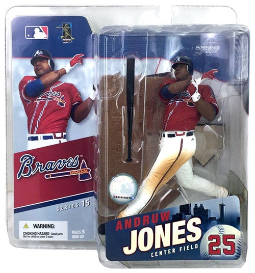 McFarlane Toys MLB Atlanta Braves Sports Picks Series 15 Andruw Jones Action Figure [Red Jersey]