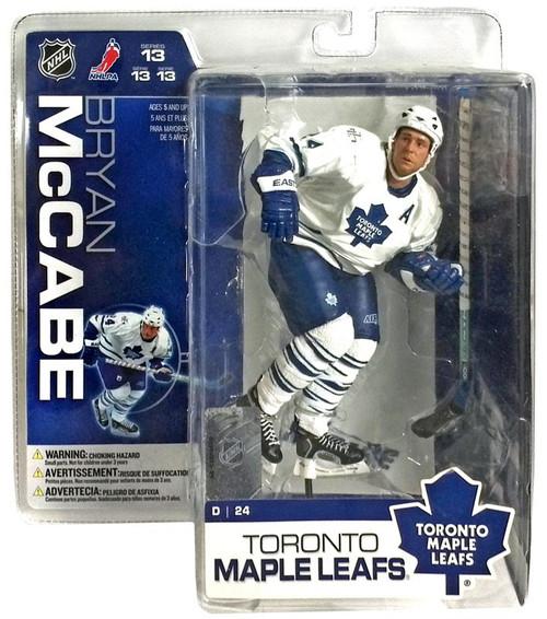 McFarlane Toys NHL Toronto Maple Leafs Sports Picks Series 13 Bryan McCabe Action Figure [White Jersey]