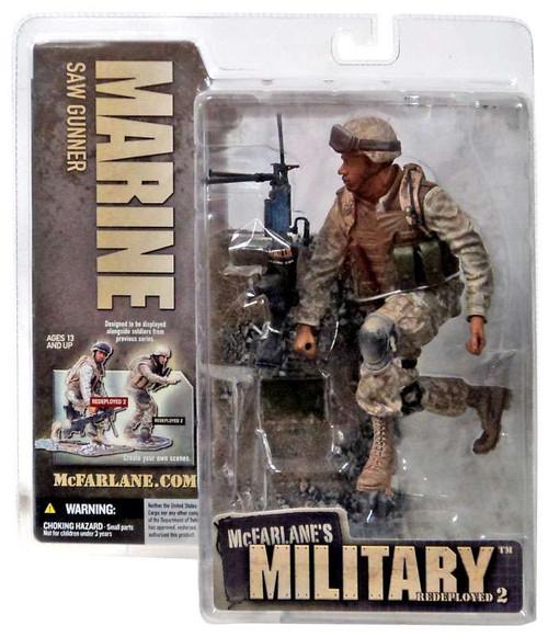 McFarlane Toys McFarlane's Military Redeployed Series 2 Marine Saw Gunner Action Figure [African American]