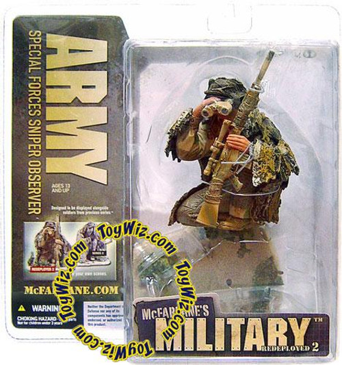 McFarlane Toys McFarlane's Military Redeployed Series 2 Army Special Forces Sniper Observer Action Figure [Caucasian]