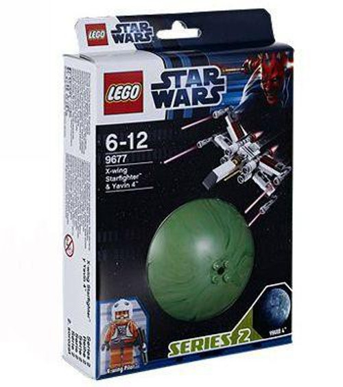 LEGO Star Wars A New Hope Planets Series 2 X-Wing Starfighter & Yavin 4k Set #9677