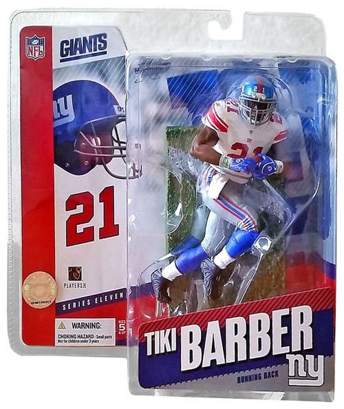 McFarlane Toys NFL New York Giants Sports Picks Series 11 Tiki Barber Action Figure [White Jersey Variant]