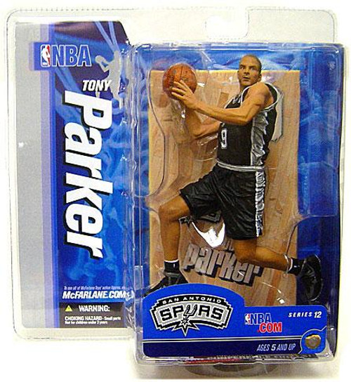 McFarlane Toys NBA San Antonio Spurs Sports Picks Series 12 Tony Parker Action Figure [Black Jersey, Damaged Package, Mint Contents!]
