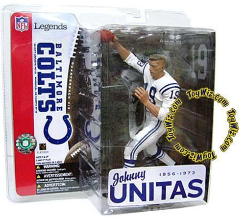 McFarlane Toys NFL Baltimore Colts Sports Picks Legends Series 1 Johnny Unitas Action Figure [White Jersey No Helmet Variant]
