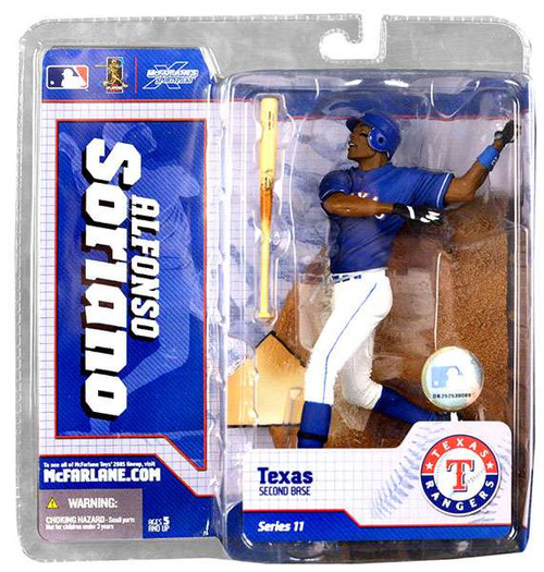 McFarlane Toys MLB Texas Rangers Sports Picks Series 11 Alfonso Soriano Action Figure [Blue Jersey]
