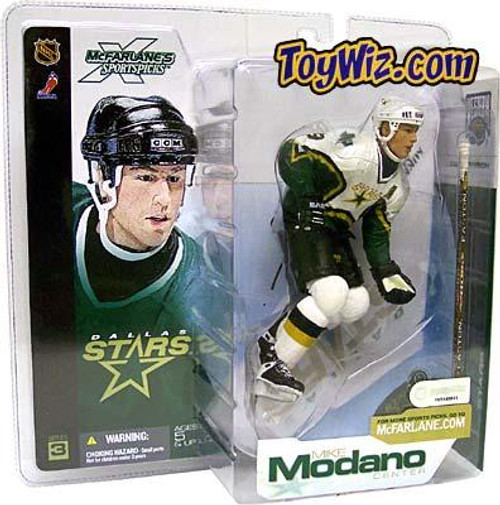 McFarlane Toys NHL Dallas Stars Sports Picks Series 3 Mike Modano Action Figure [White Jersey Variant]