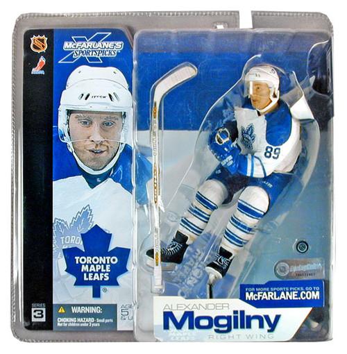 McFarlane Toys NHL Toronto Maple Leafs Sports Picks Series 3 Alexander Mogilny Action Figure [White Jersey]