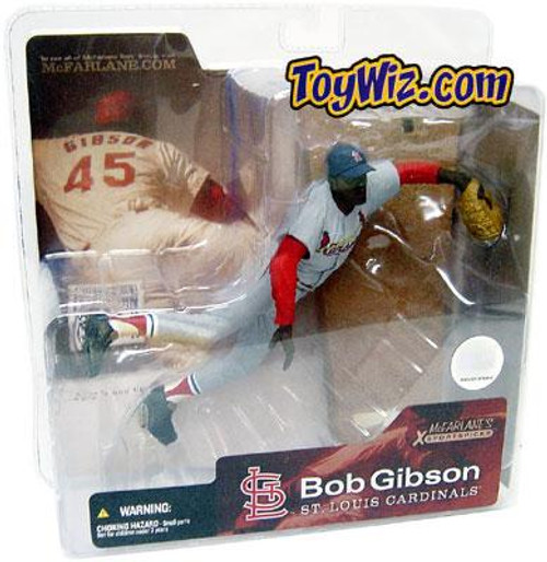 McFarlane Toys MLB Cooperstown Collection Series 1 Bob Gibson Action Figure [Gray Jersey]