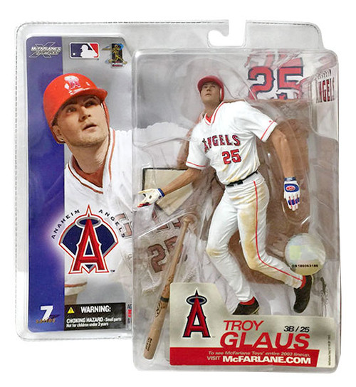 McFarlane Toys MLB Anaheim Angels Sports Picks Series 7 Troy Glaus Action Figure [White Jersey]