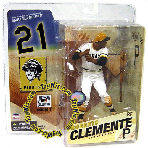 McFarlane Toys MLB Cooperstown Collection Series 3 Roberto Clemente Action Figure [White Jersey]