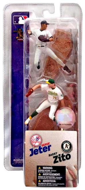 McFarlane Toys MLB New York Yankees / Oakland Athletics Sports Picks 3 Inch Mini Series 1 Derek Jeter & Barry Zito Mini Figure 2-Pack