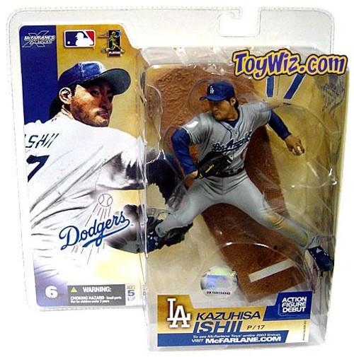 McFarlane Toys MLB Los Angeles Dodgers Sports Picks Series 6 Kazuhisa Ishii Action Figure [Gray Jersey Variant]