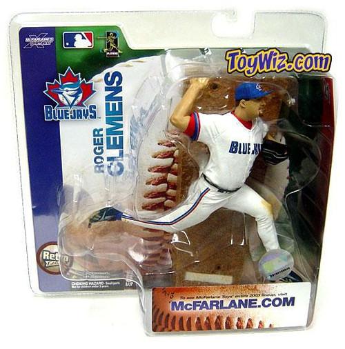 McFarlane Toys MLB Toronto Blue Jays Sports Picks Series 6 Roger Clemens Action Figure [Retro Jersey Variant, Damaged]