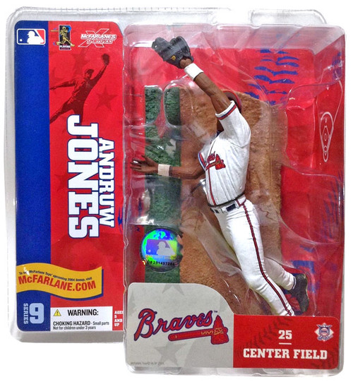 McFarlane Toys MLB Atlanta Braves Sports Picks Series 9 Andruw Jones Action Figure [White Jersey]