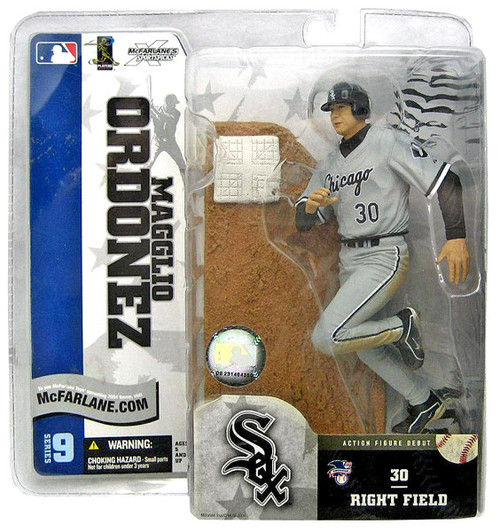 McFarlane Toys MLB Chicago White Sox Sports Picks Series 9 Magglio Ordonez Action Figure [Gray Jersey]