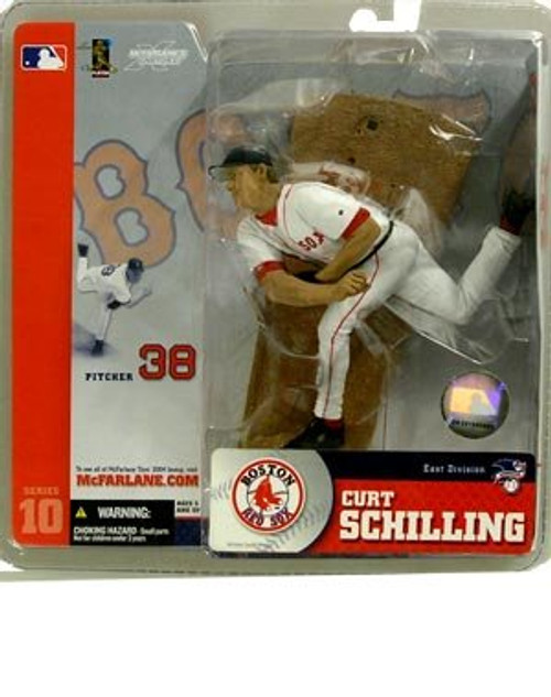 McFarlane Toys MLB Boston Red Sox Sports Picks Series 10 Curt Schilling Action Figure [White Jersey, Damaged Package]