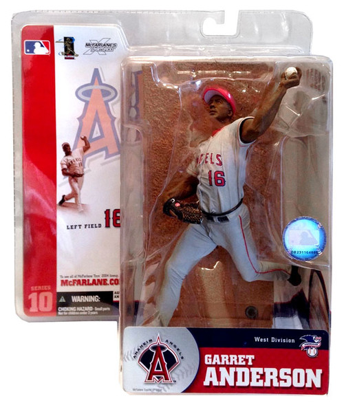 McFarlane Toys MLB Anaheim Angels Sports Picks Series 10 Garret Anderson Action Figure [Gray Jersey]