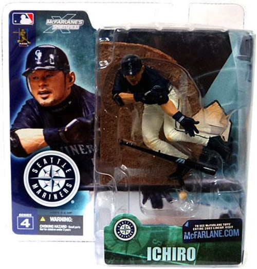 McFarlane Toys MLB Seattle Mariners Sports Picks Series 4 Ichiro Suzuki Action Figure [Blue Jersey]