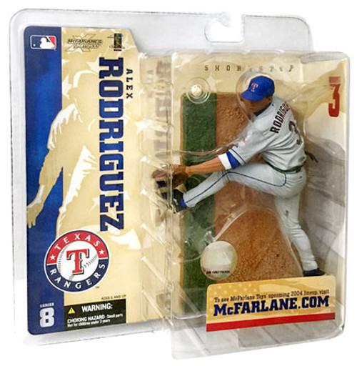 McFarlane Toys MLB Texas Rangers Sports Picks Series 8 Alex Rodriguez Action Figure [Gray Jersey Variant]