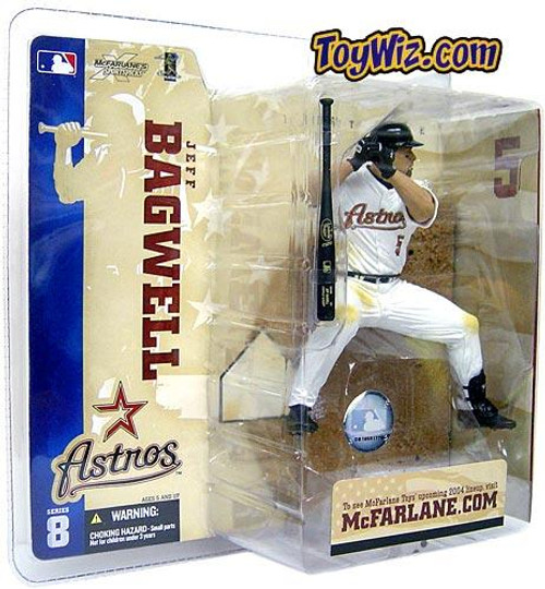 McFarlane Toys MLB Houston Astros Sports Picks Series 8 Jeff Bagwell Action Figure [White Jersey Variant]