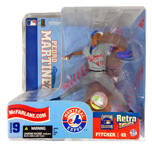 McFarlane Toys MLB Montreal Expos Sports Picks Series 9 Pedro Martinez Action Figure [Gray Retro Jersey Variant]
