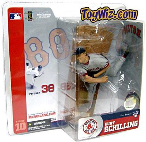 McFarlane Toys MLB Boston Red Sox Sports Picks Series 10 Curt Schilling Action Figure [Gray Jersey Variant]