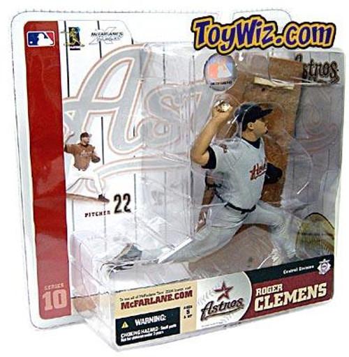 McFarlane Toys MLB Houston Astros Sports Picks Series 10 Roger Clemens Action Figure [Gray Jersey Variant]