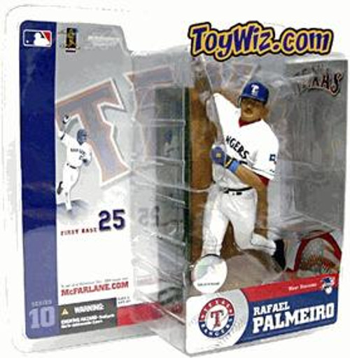 McFarlane Toys MLB Texas Rangers Sports Picks Series 10 Rafael Palmeiro Action Figure [White Retro Jersey Variant]