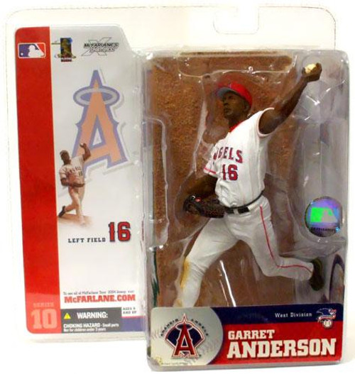 McFarlane Toys MLB Anaheim Angels Sports Picks Series 10 Garret Anderson Action Figure [White Jersey Variant]