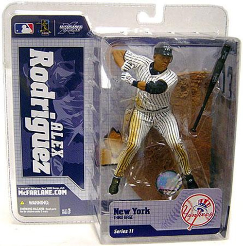 McFarlane Toys MLB New York Yankees Sports Picks Series 11 Alex Rodriguez Action Figure [White Jersey]