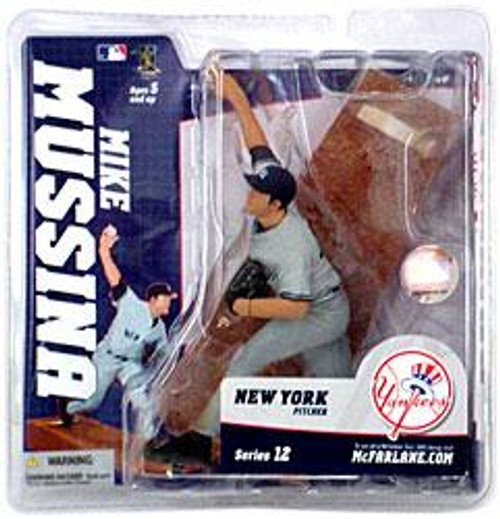 McFarlane Toys MLB New York Yankees Sports Picks Series 12 Mike Mussina Action Figure [Gray Jersey]