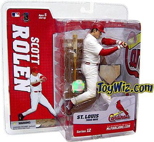 McFarlane Toys MLB St. Louis Cardinals Sports Picks Series 12 Scott Rolen Action Figure [White Jersey]