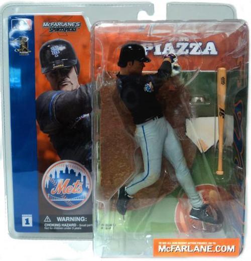 McFarlane Toys MLB New York Mets Sports Picks Series 1 Mike Piazza Action Figure [Black Jersey]