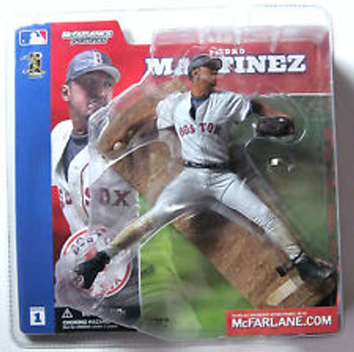 McFarlane Toys MLB Boston Red Sox Sports Picks Series 1 Pedro Martinez Action Figure [Gray Jersey Variant]