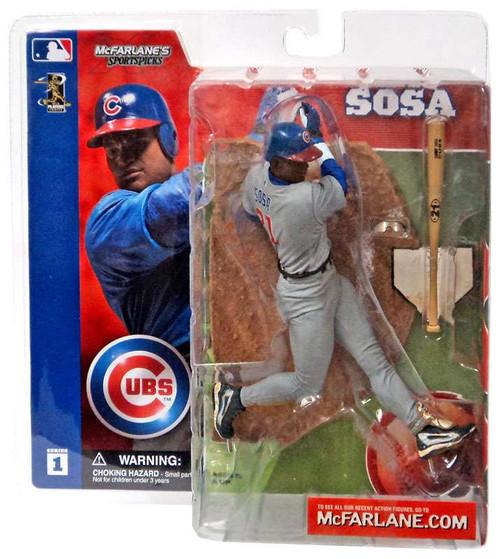 McFarlane Toys MLB Chicago Cubs Sports Picks Series 1 Sammy Sosa Action Figure [Gray Jersey Variant]