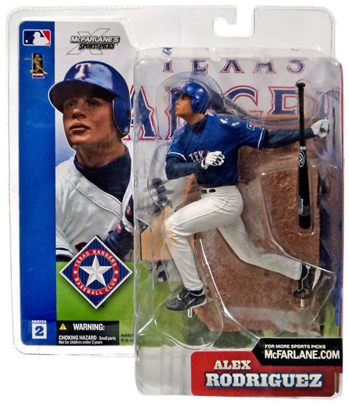 McFarlane Toys MLB Texas Rangers Sports Picks Series 2 Alex Rodriguez Action Figure [Blue Jersey Variant]