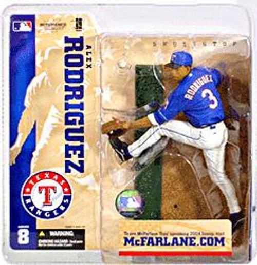 McFarlane Toys MLB Texas Rangers Sports Picks Series 8 Alex Rodriguez Action Figure [Blue Jersey]