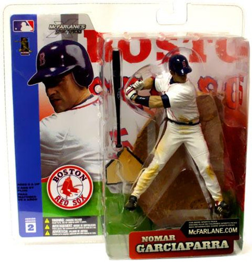 McFarlane Toys MLB Boston Red Sox Sports Picks Series 2 Nomar Garciaparra Action Figure [White Jersey]