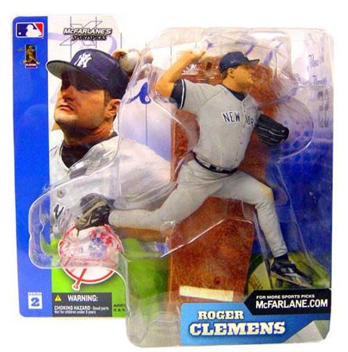 McFarlane Toys MLB New York Yankees Sports Picks Series 2 Roger Clemens Action Figure [Gray Jersey]