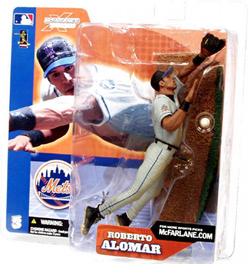 McFarlane Toys MLB Sports Picks Series 3 Roberto Alomar (New York Mets) Action Figure [Gray Jersey]
