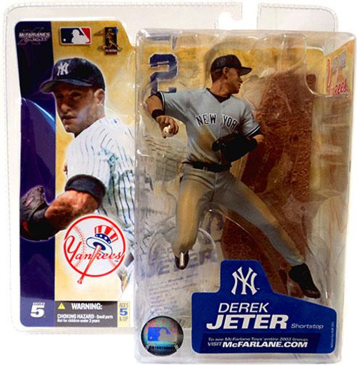 McFarlane Toys MLB New York Yankees Sports Picks Series 5 Derek Jeter Action Figure [Gray Jersey]