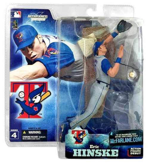 McFarlane Toys MLB Toronto Blue Jays Sports Picks Series 4 Eric Hinske Action Figure [Gray Jersey]