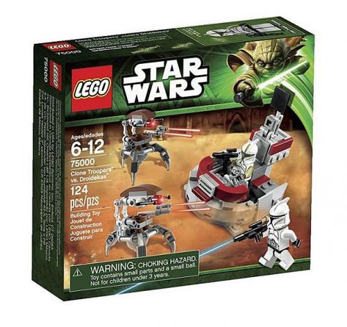 LEGO Star Wars The Clone Wars Clone Troopers vs. Droidekas Set #75000