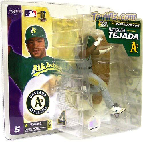 McFarlane Toys MLB Oakland A's Sports Picks Series 5 Miguel Tejada Action Figure [Gray Jersey Variant]