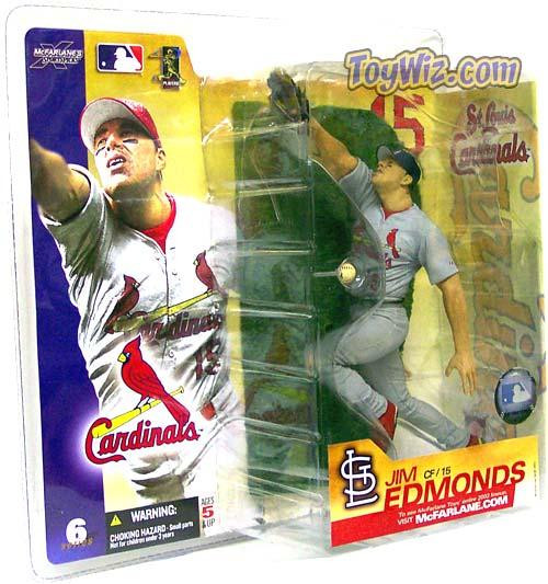 McFarlane Toys MLB St. Louis Cardinals Sports Picks Series 6 Jim Edmonds Action Figure [Gray Jersey Variant]